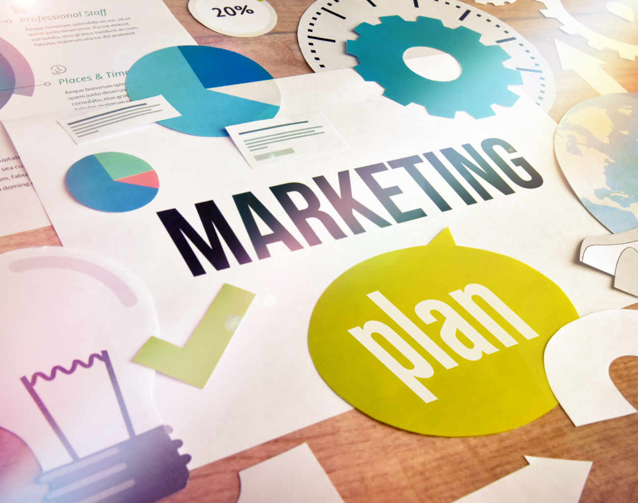 Content marketing plan collage image
